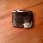 Mein altes Portemonnaie, mit Klebeband geflickt