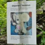Plakat des vermissten Plüschtiers