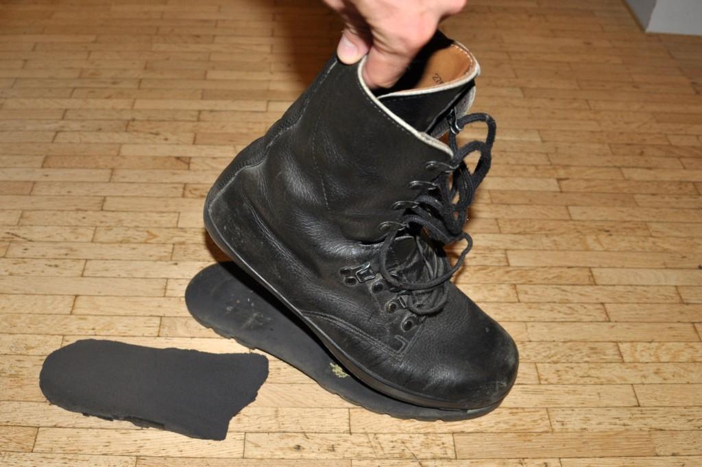 Ein ebenfalls schwachbesohlter Schuh