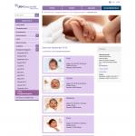 Screenshot der Geburtsseite der Uniklinik Münster
